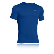 Under Armour Charged Cotton Mens Blue Short Sleeve Running T Shirt Tee Top