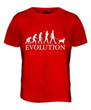 ENGLISH COCKER SPANIEL EVOLUTION DE L'HOMME T-SHIRT HAUT CHIEN WALKER MARCHE