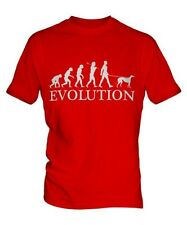 LEVRIERO EVOLUTION OF MEN DA UOMO T-SHIRT MAGLIETTA AMANTI DEI CANI WALKER