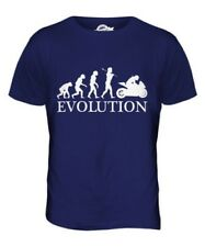 CARRERAS DE MOTOS EVOLUTION OF MAN PARTE SUPERIOR EL HOMBRE CAMISETA TEE MOTERO
