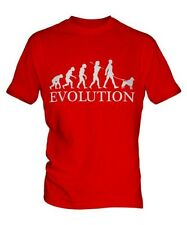 BARBONCINO EVOLUTION OF MEN DA UOMO T-SHIRT MAGLIETTA AMANTI DEI CANI WALKER