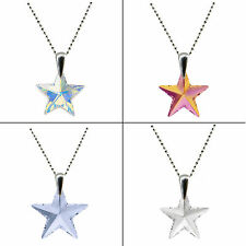 FASHIONS FOREVER® 925 Sterling Silver Star Crystal Necklace Pendant