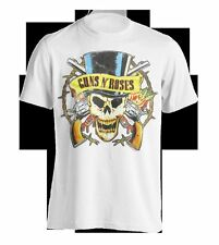 "Guns'n Roses "" Distressed Top Hat "" T-Shirt 105929 #"