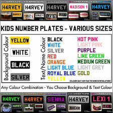 Personalised Kids Childrens Plastic Number Plate - for Ride On Toy Car Quad Xmas