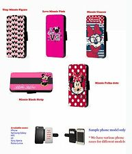 Minnie mouse pattern disney cute leather phone case iPhone Samsung LG HTC Sony