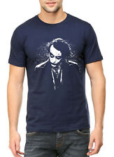 Half Sleeve 100% Cotton Round Neck Printed Navy Blue Color Men's T Shirts