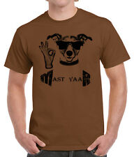 Brand New 100% Cotton Half Sleeve Printed Brown Colour Casual Men's T Shirts