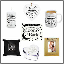 To the Moon and Back Personalised gifts for Wedding, Birthday, Christmas