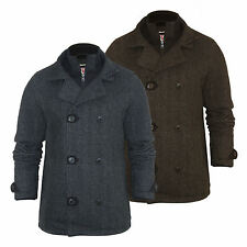 Mens Wool Mix Jacket by Tokyo Laundry 'Egbert' Double Layer Breasted S-XXL