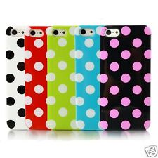 Polka Dot Case for Apple iPhone 5 5S Candy Color Silicone Simple Back Cover