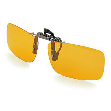 Polarized HIGH QUALITY Night Vision Flipup Driving metal/plastic clip Sunglasses