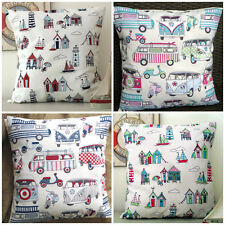 'Happy Days' or 'Happy Camper' Cushion Covers - Choose Theme & Colour