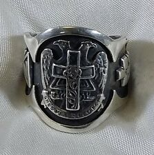 ANELLO MASSONICO VINTAGE IN ARGENTO 925 MASONIC STERLING SILVER  RING