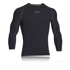 Under Armour HeatGear Mens Black Long Sleeve Sports Compression Running Top