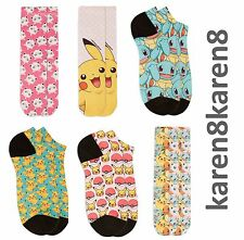 Ladies Girls Womens POKEMON Socks or Ankle Trainer Liners Primark Licensed