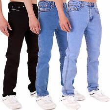 New Mens AZTEC Stretch Skinny Basic Formal Casual Hard Denim Jeans All Waist