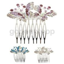 Diamante Rhinestone Butterfly Hair Comb Hair Clip Bridal Wedding Headpiece