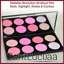 MAKEUP REVOLUTION COLORETE COMPACTO CONTORNO RESALTADOR ALL ABOUT ROSA
