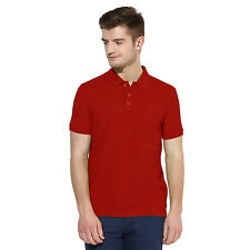 Polo Nation Men Solid 100% Cotton White Polo T-Shirt