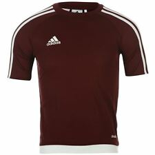 adidas Kids 3 Stripe Estro T-Shirt Junior Boys Short Sleeved Tee Top age 7-13
