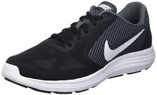 Nike Brand Mens Original Revolution 3 Black White Running Shoes