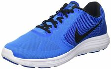 Nike Brand Mens Original Revolution 3 Blue Black Running Shoes
