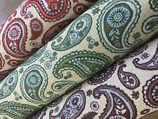 3 Cols Latest Designer Paisley Curtain Fabric Tapestry Upholstery Damask