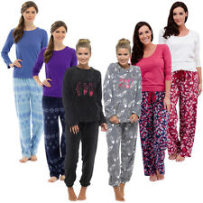 Womens Ladies Snuggle Fleece Twosie Pyjama Set Lounge Wear Warm Soft Thermal PJ