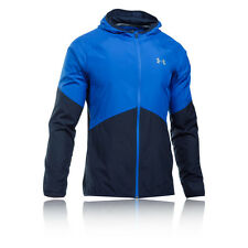 Under Armour No Breaks Storm 1 Mens Bluе Water Resistant Sports Running Jacket