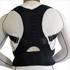 NEOPRENE MAGNETIC POSTURE ADJUSTABLE BAD BACK LUMBAR SHOULDER SUPPORT BELT BRACE