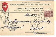 """Italien 1906, Postcard to Germany with spec postmark """"Milano Esposizione"""" clean"""