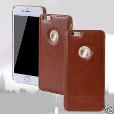 Luxury Case For Apple iPhone  6 4.7 Hard Plastic+Pu Skin Back Cover Brown