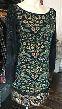 SAVE THE QUEEN TAPESTRY PRINT SEQUINNED DRESS S,M,L,XL