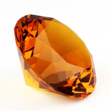 9 Colors Crystal Paperweight Cut Glass Giant Diamond Shape Jewel Decor Gift 30mm