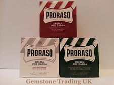 Proraso pre and post shave cream ONE jar either red, green, white 100ml UK Stock