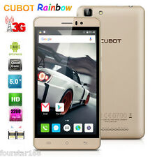 "5"" CUBOT RAINBOW 3G HD Smartphone Android 6.0 Quad Core Dual SIM 16GB 13MP Oro"