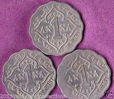 ONE ANNA GEORGE V KING EMPEROR - 1934-1935- 1936 YEAR 3 COINS