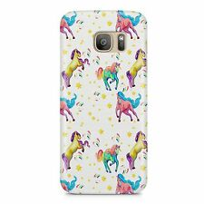 Running Unicorn Coloured Strong Plastic Phone Case Cover
