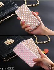 Coeurs Strass Housse Etui Coque iPhone 4 5 SE 6 7 Plus Bling Souple luxe Cover