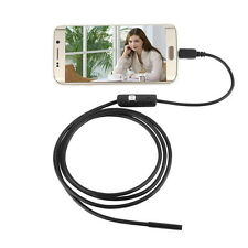 7mm Lens Waterproof 6 LED 720P Inspection Borescope Camera Android Endoscope BY