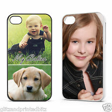 Personalised Apple iPhone 4/4S Plastic Case Cover - Your Images & Text Printed