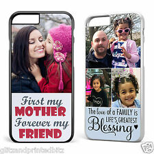 Personalised Apple iPhone 6/6S Plastic Case Cover Your Images & Text Printed