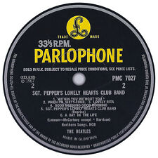 Beatles. Record Label Vinyl Sticker. Parlophone. Apple.