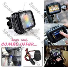 COMBO Waterproof Mobile Holder & USB bike mobile charger for enfield & all bikes