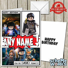 LEGO Harry Potter Personalised Greeting Birthday Card Dimensions Hermione CA142