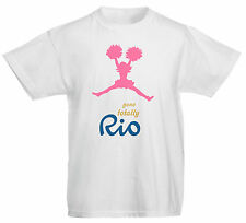 Gone Totally Rio Cheerleader Dance Game Sport Athletics Olympics Kids T Shirt