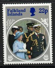 FALKLAND ISLANDS SG506w 1985 22p QUEEN MOTHER WMK INVERTED MNH