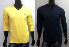 YELLOW LP Full Sleeves V-Neck T-shirts for Men's - LIMITED STOCK