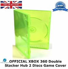 XBOX 360 Double Stacker Hub 2 Disks Green Microsoft Game Case HIGH QUALITY