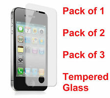 Tempered Glass Screen Protector Guard iPhone 4 / iPhone 4S - FRONT ONLY